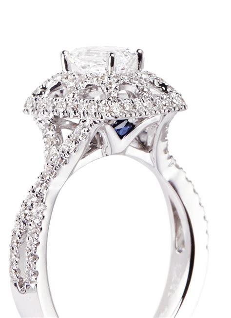 vera wang tiara and white gold engagement