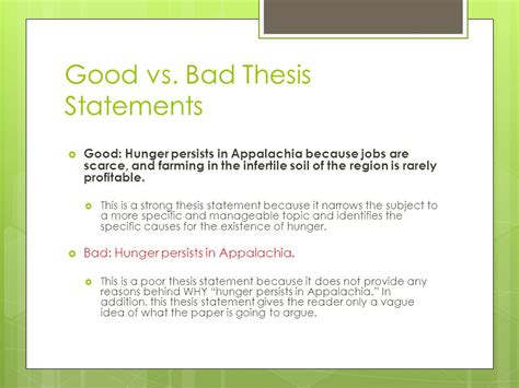 bad thesis statement exles bad thesis exles 28 images exles of and bad essays