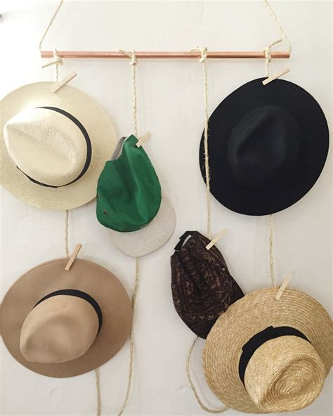 Hat Hanging Rack by Diy Hanging Hat Rack