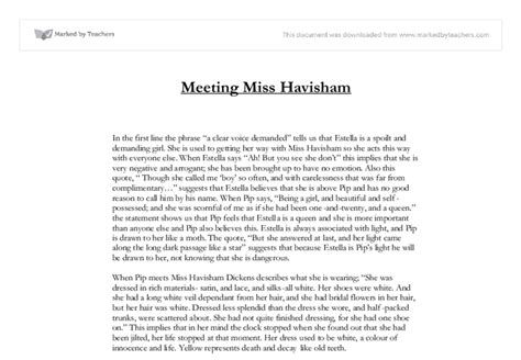 Miss Havisham Essay by Miss Havisham Gcse Marked By Teachers