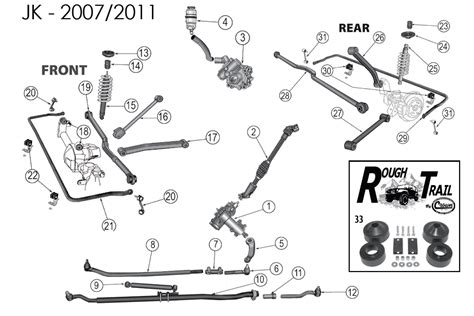 jeep suspension diagram jeep wrangler front suspension diagram images