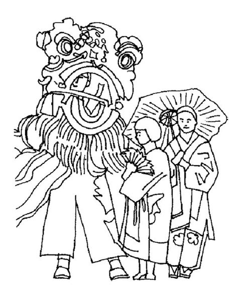 chinese new year lion dance coloring page 1000 images about chinese new years on pinterest about