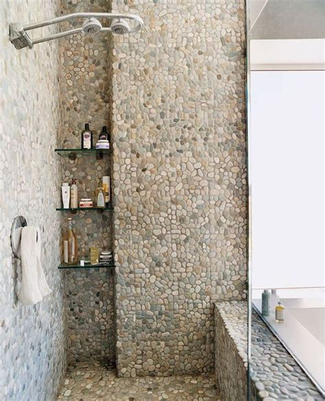 river rock bathroom tile 41 cool and eye catchy bathroom shower tile ideas digsdigs