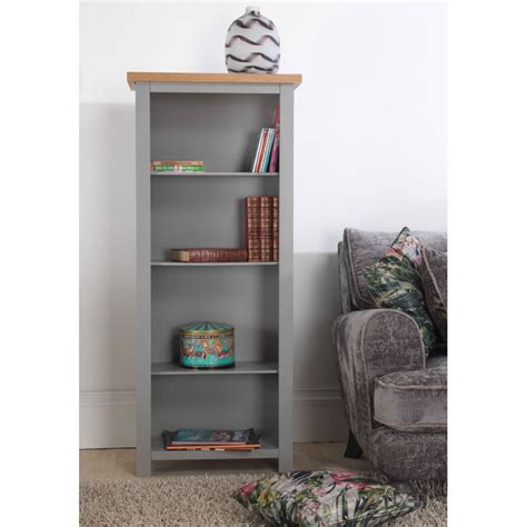 richmond grey painted furniture narrow bookcase sale