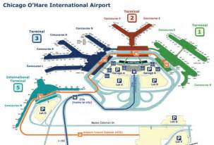 Terminal Map Chicago O Hare by World Airport Maps And Illustrations Of International Airports