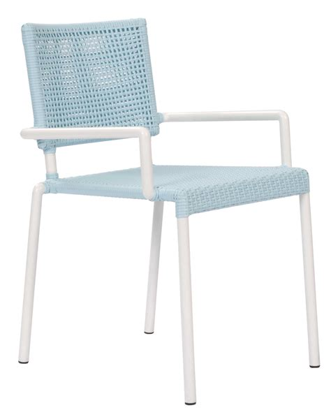 Outdoor Dining Chairs White Lido Outdoor Dining Chair With Arms Blue White Pr Home