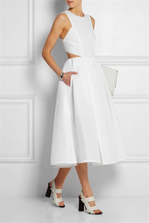 Dress Nets lyst dkny scuba mesh midi dress in white