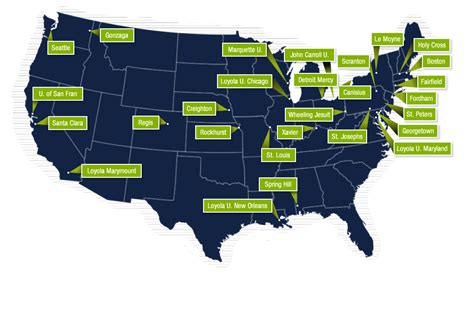 map of colleges in the united states catholic colleges and universities in the united states