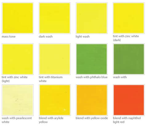 image gallery light yellow color names