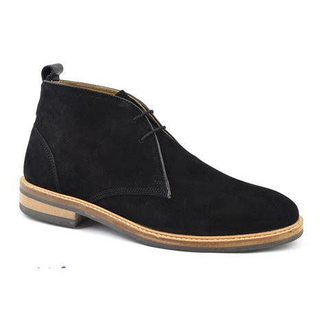 shop black suede desert boot mens gucinari shoes
