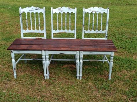 bench made out of chairs bench i made out of my great grandparents old chairs and