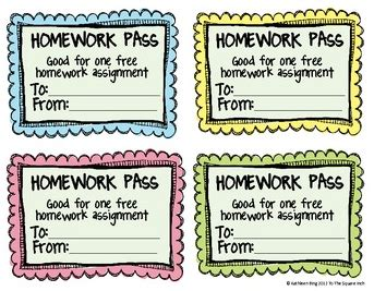 printable free homework pass homework passes v late homework passes tothesquareinch