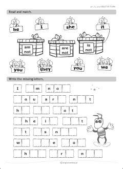 verb  set  printables  kids learning english grammar