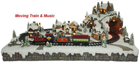 christmas village moving train 600422 christmas festivities