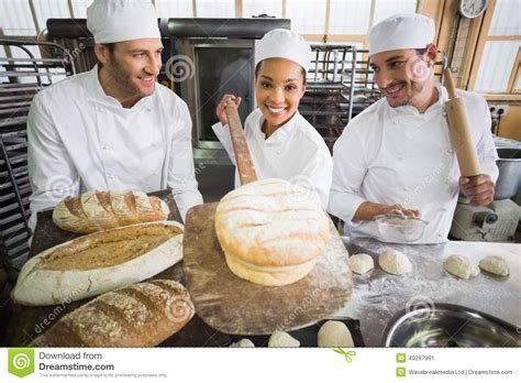 team of bakers working together stock photo image 49287991