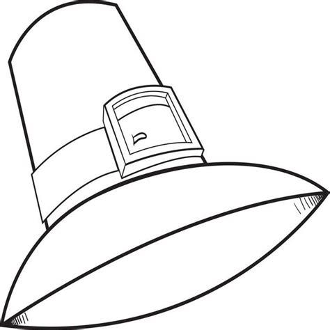 pilgrim hat colouring pages az coloring pages