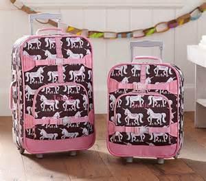 pottery barn childrens suitcase mackenzie chocolate unicorn luggage pottery barn
