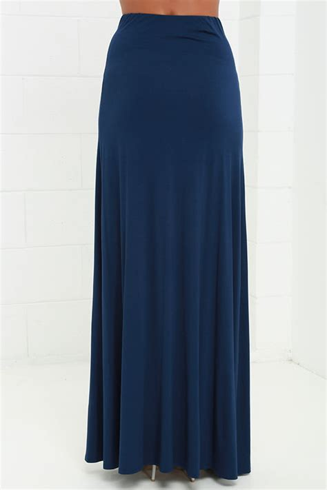 At Maxi 38 Navy navy blue skirt maxi skirt side slit skirt 38 00