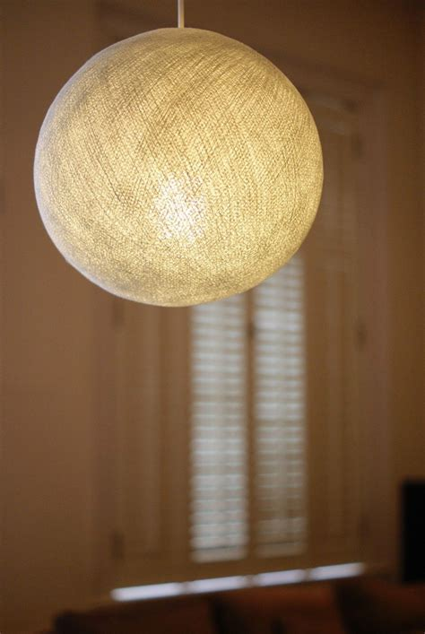 White Big Cotton Ball Lampshade Pendant Large Ceiling Lamp Cotton Lights