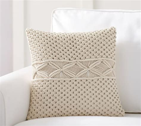 macrame pillow macrame pillow cover pottery barn