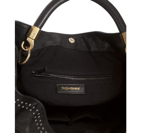 New Beckham Hobo Studed 3in11104 laurent black leather sac roady rock studded hobo in black lyst