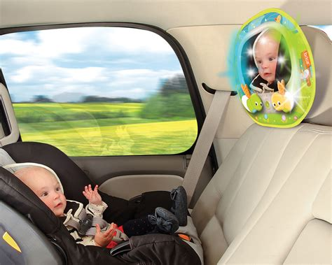 baby car mirror with remote and lights brica baby in sight magical firefly auto
