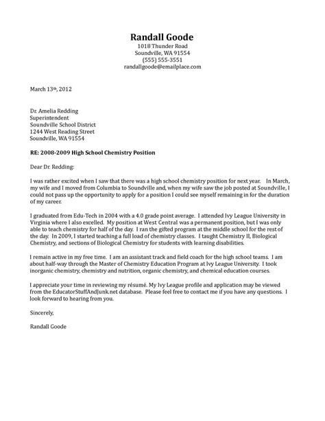 sle teaching cover letters for new teachers sle cover letter cover letter for child care