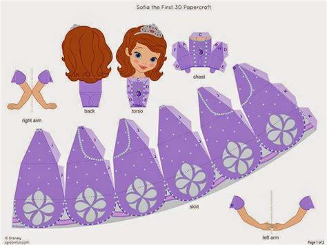 kit personalizados tema princesa sofia papercraft dolls