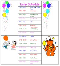 home daycare schedule template daycare daily schedule childcare daily schedule