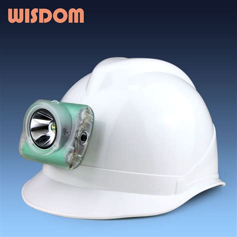 miner hard hat with attached light wisdom l 3 led projector cordless cap l led mining