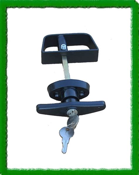 t handle lock for padlock shed door