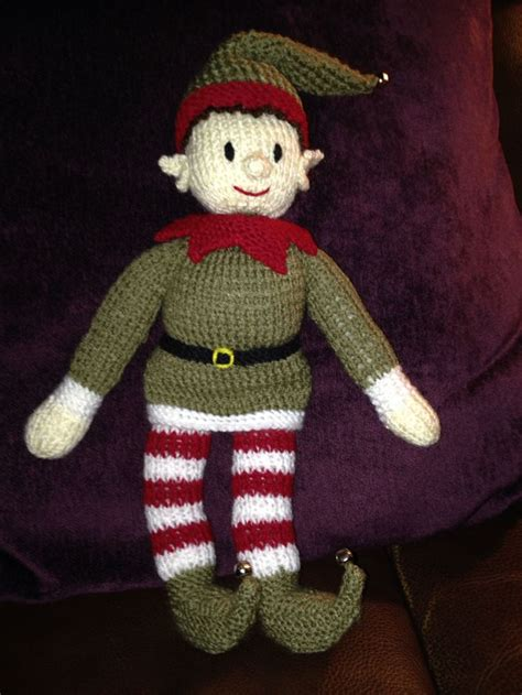 knitting pattern christmas elf my elf knitted from zoe halstead bernard the christmas