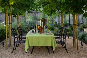 Black Dining Table With Purple Chairs Delightful Pea Gravel Patio Decorating Ideas