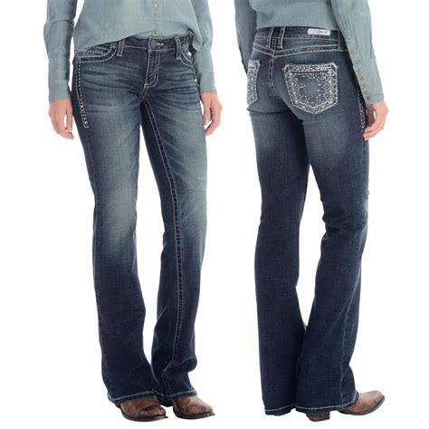 ladies jeans rock 47 by wrangler ladies color wings jeans wrangler rock 47 ultra low rise jeans for women save 50