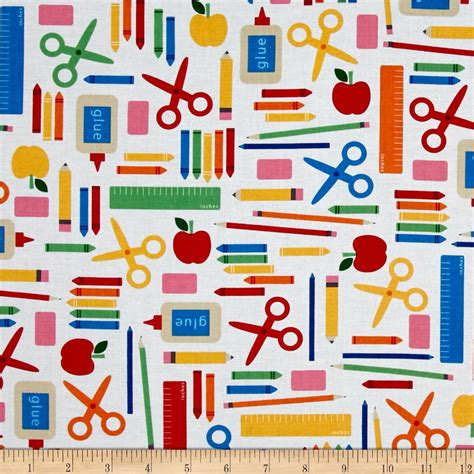 school for upholstery kaufman back to school collage white discount designer