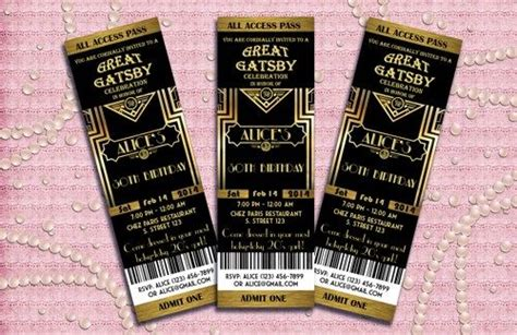 themes in the great gatsby pdf the great gatsby birthday party invitation art deco