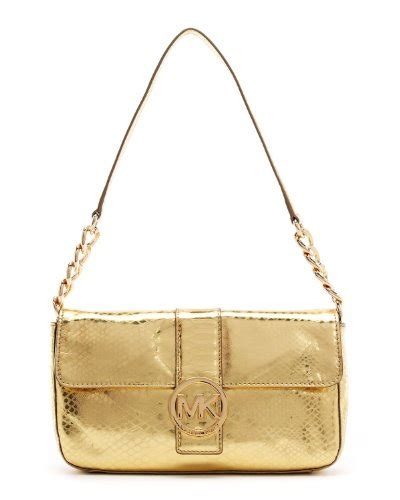 Shopping Gold Python Blackberry Purse by Michael Kors Fulton Python Small Flap Gold Handbag
