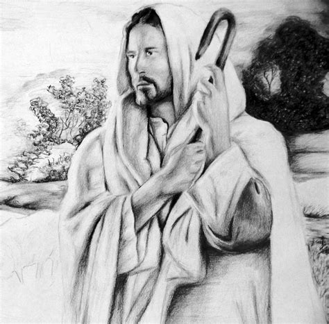 Drawing Jesus by The Gallery For Gt Jesus Pencil Sketch