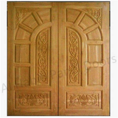 Wooden Main Door by Diyar Solid Wood Double Door Hpd506 Main Doors Al