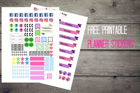 printable stickers journal free printable planner stickers bujos and java