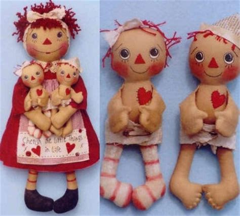 Raggedy Dolls Handmade - 22 best images about primitive patterns on