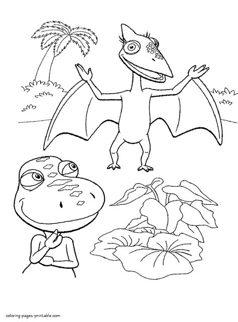 coloring page dinosaur train printable dinosaur train coloring pages