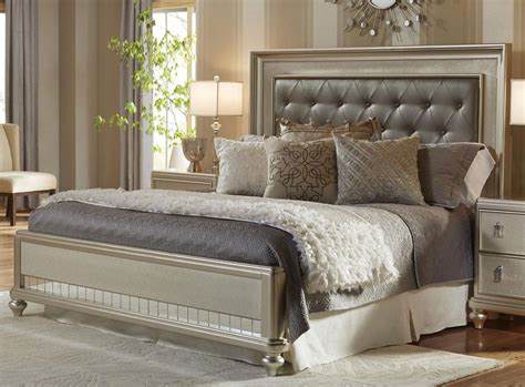 traditional champagne  piece queen bedroom set diva rc willey furniture store