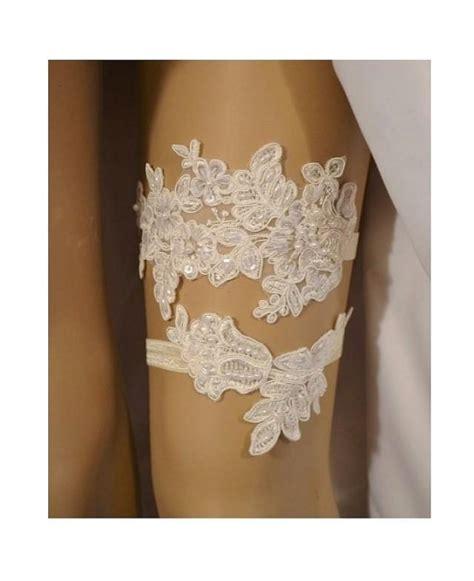 Set Garter lace wedding garter set wedding garter ivory beaded lace