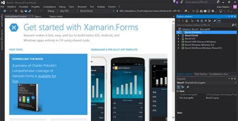 xamarin forms learning basics and starting project creating a new project with xamarin forms