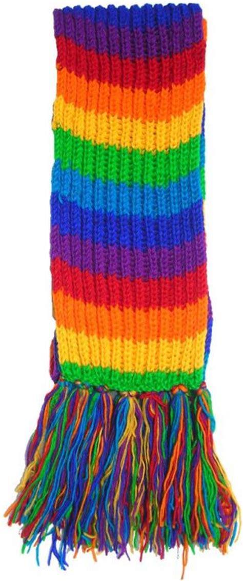 woollen striped scarves at black yak