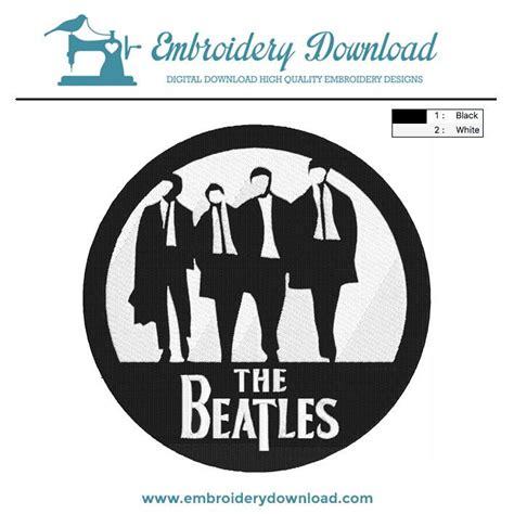 beatles circle logo embroidery design