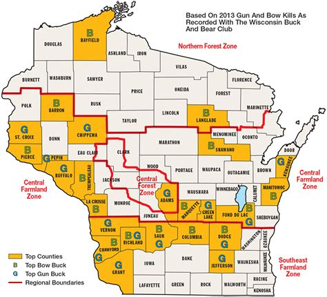 Wisconsin Records Best Big Buck States For 2014 Wisconsin Fish