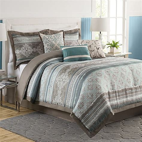 Tresco 7 Piece Comforter Set Bed Bath Beyond Bed Bath Beyond Comforter Sets