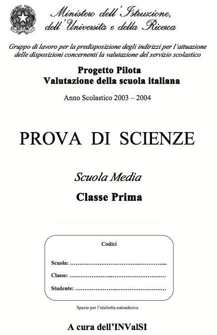 test di ingresso prima media italiano prove invalsi di scienze per la prima media osmosi delle